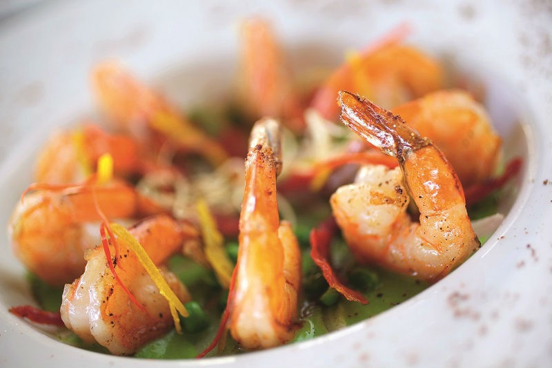 Prawn Dish - Luxury Holiday at Constance Prince Maurice | Just Fly Business