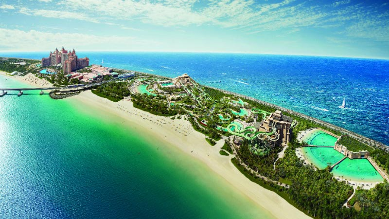 Aerial View - Luxury Holiday at Atlantis The Palm | Just Fly Business