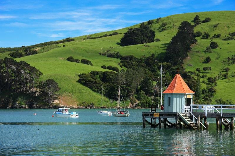 Akaroa Peninsula in New Zealand