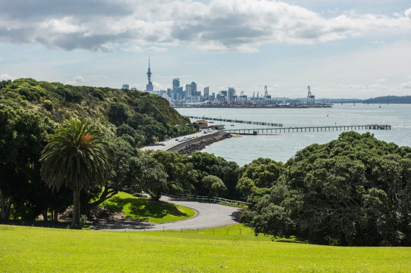 Auckland City Skyline in New Zealand
