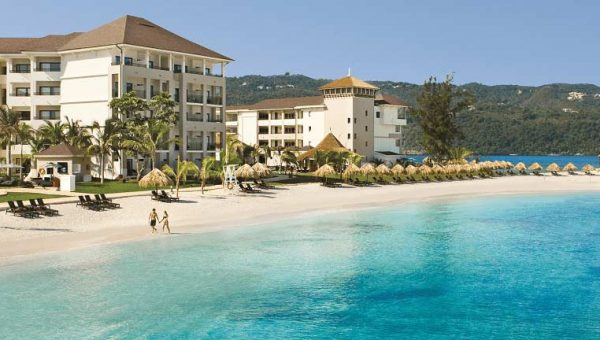 Resort beach at Secrets Wild Orchid in Jamaica - Just Fly Business
