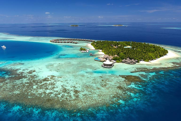 Baros Resort Aerial View - Best Hotels in Maldives - Just Fly Business