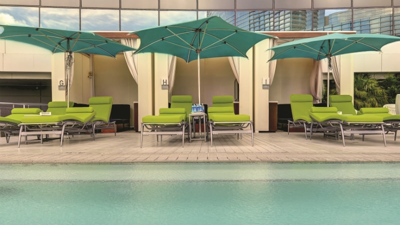 Pool Cabanas at Vdara Hotel & Spa