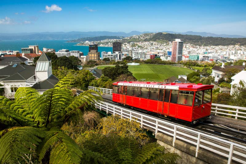 Cable Car in Wellington, New Zealand