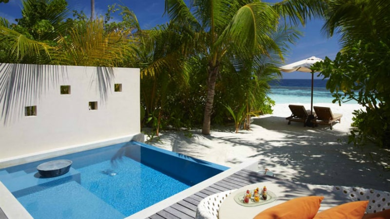 Deluxe Beach Pool Villa at Huvafen Fushi, Maldives