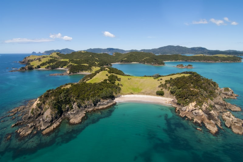 Deserted Beach in the Bay of Islands, New Zealand