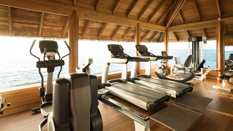 Fitness Centre at Huvafen Fushi, Maldives