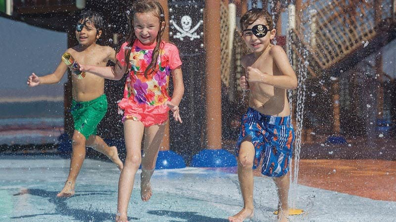 Kids Aqua Zone - Luxury Holiday at Doubletree Marjan Island Resort & Spa Dubai | Just Fly Business