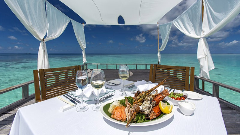 Meal on Deck - Luxury Holiday at Baros   Just Fly Business