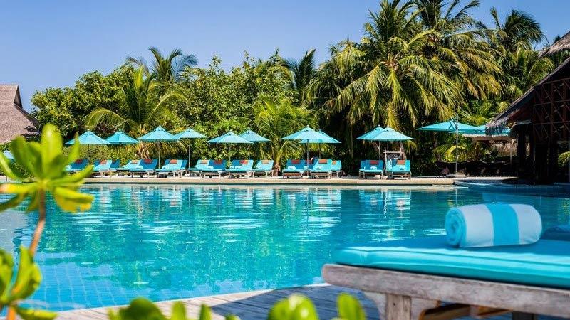 Pool - Luxury Holiday at Anantara Dhigu Resort Maldives - Just Fly Business
