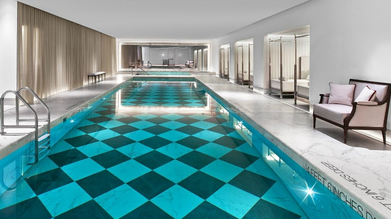 Pool at Baccarat Hotel, New York