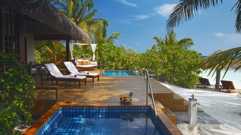 Premium Pool Villa Deck - Luxury Holiday at Baros Maldives - Just Fly Business
