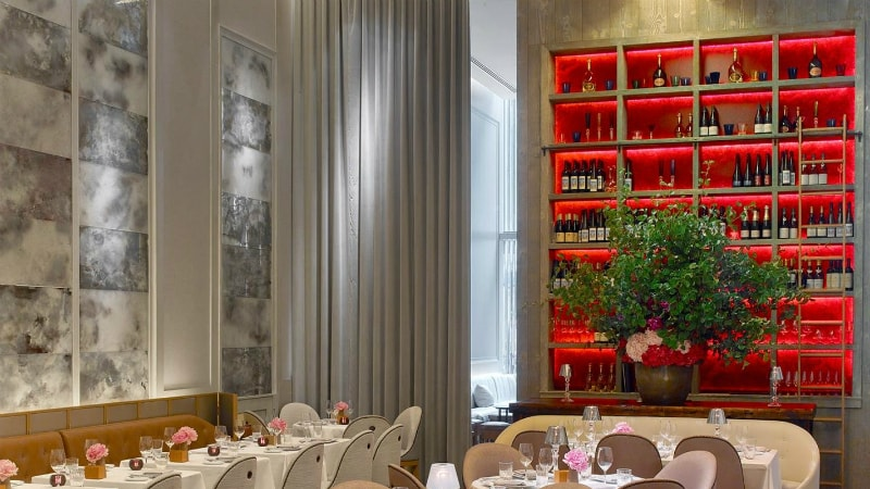Restaurant at Baccarat Hotel, New York