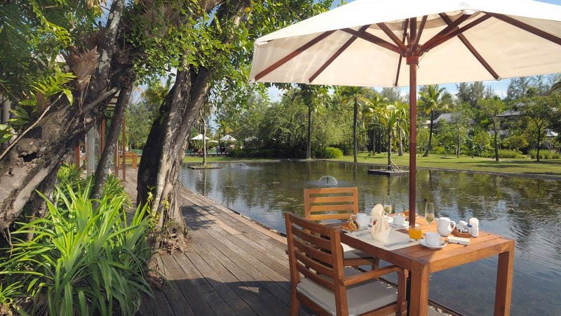 Lakeside Restaurant - Luxury Holiday at Sarojin Khao Lak Thailand | Just Fly Business