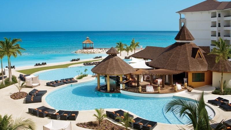 swimming pool on caribbean sea