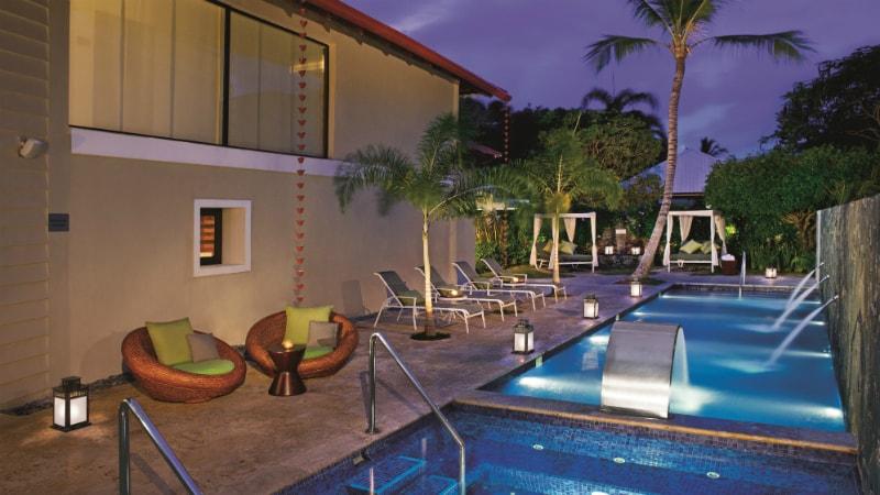 Spa Jacuzzis at Dreams Palm Beach Resort & Spa
