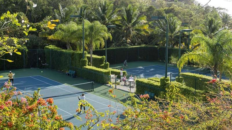 Tennis Court - Luxury Holiday at The BodyHoliday St Lucia - Just Fly Business