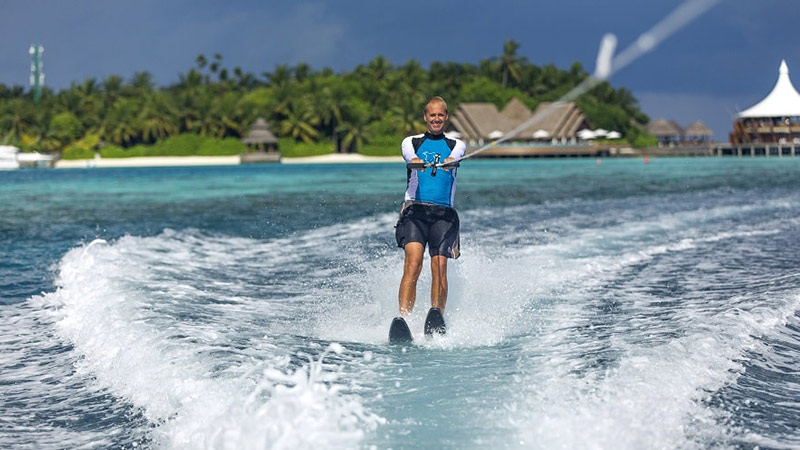 Water Skiing - Luxury Holiday at Baros Maldives | Just Fly Business