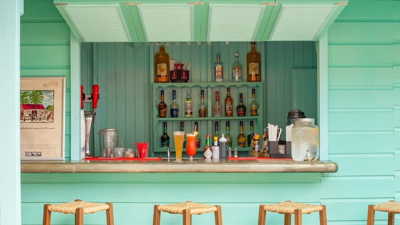 caribbean beachside bar