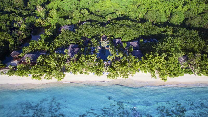 Aerial View - Luxury Holiday at Hilton Labriz Resort & Spa Seychelles - Just Fly Business