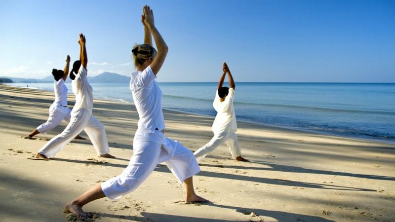 Beach Yoga at Anantara Mai Khao Phuket
