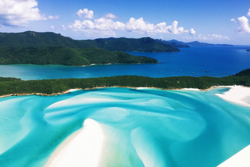Whitehaven Beach in the Whitsundays near Brisbane Australia