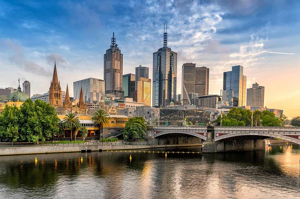 City Skyline in Melbourne, Australia