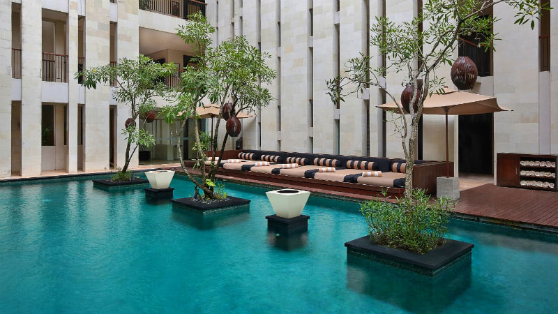 Courtyard Pool - Luxury Holiday at Anantara Seminyak | Just Fly Business