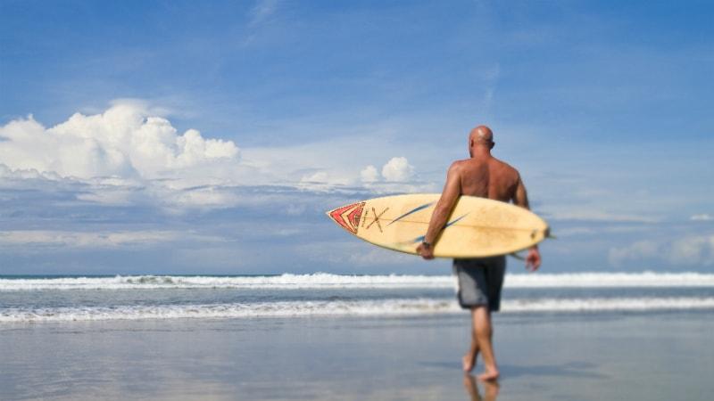 Surfing at Anantara Seminyak, Bali