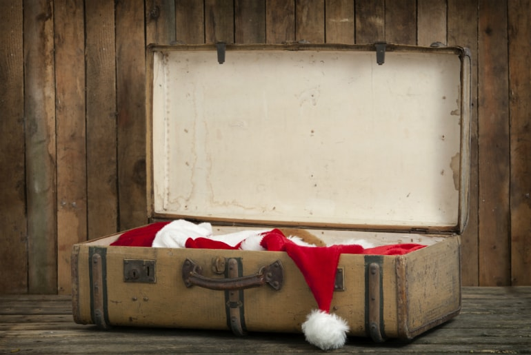 Christmas Travel Suitcase