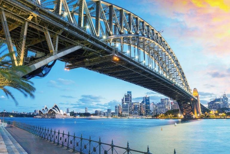 Sydney Opera House & Sydney Harbour Bridge in Sydney, Australia