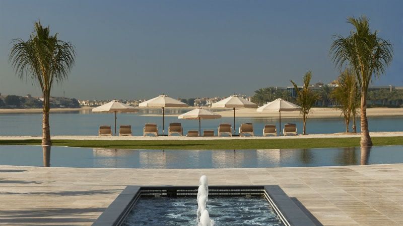 Waldorf Astoria Dubai Palm Jumeirah pool and beach view