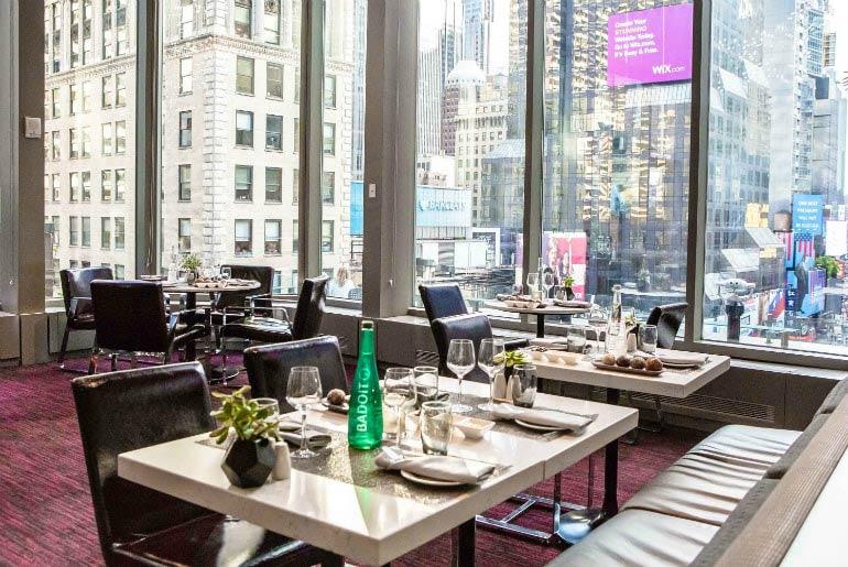 Novotel Restaurant in Times Square in New York, USA
