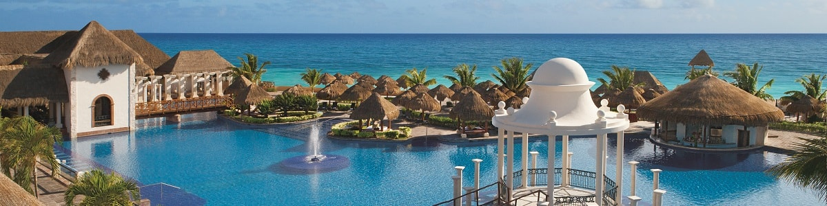 Now Sapphire Riviera Cancun pool and ocean view