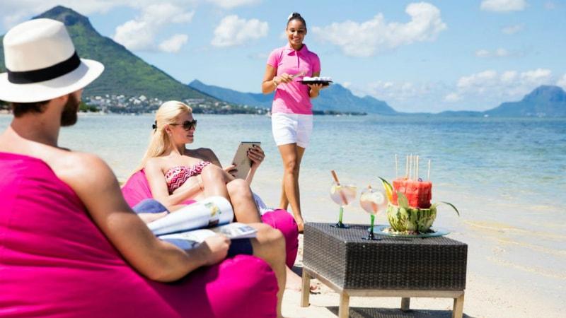 Sugar Beach Mauritius beach drinks