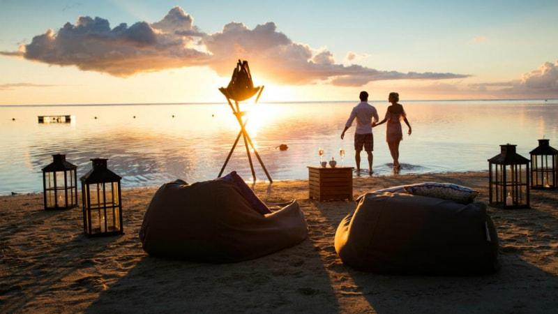 Sugar Beach Mauritius beach sunset