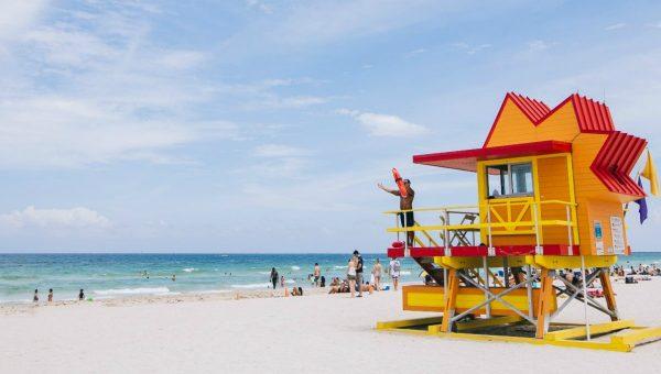 Lifeguard Beach Hut near Loews Miami Beach, Miami