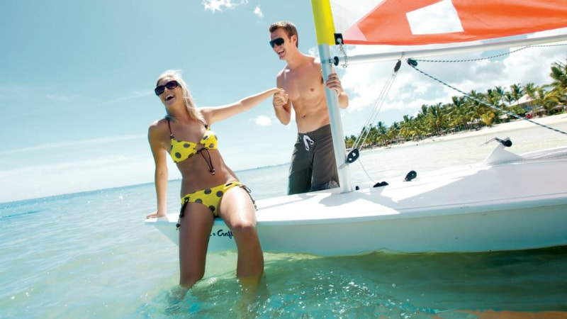 Sugar Beach Mauritius sailing