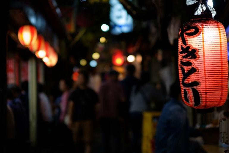 Shinjuku Street Food Stalls in Tokyo, Japan