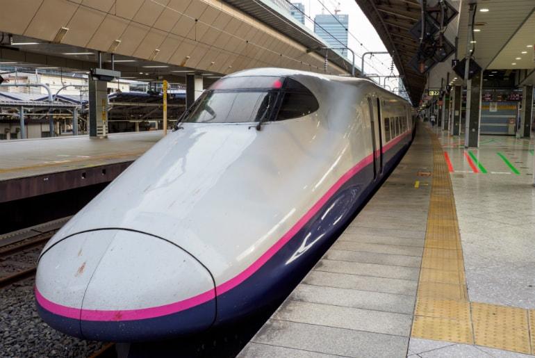 Shinkansen Bullet Train in Tokyo, Japan