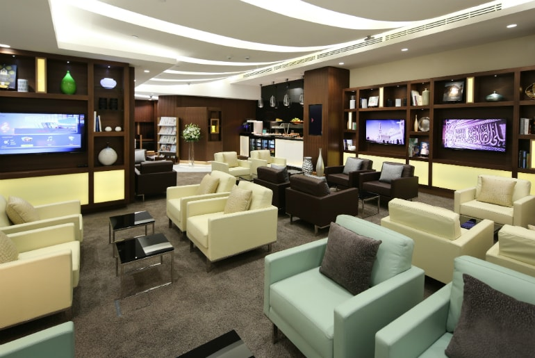 Arrivals Lounge in Abu Dhabi for Etihad Business Class