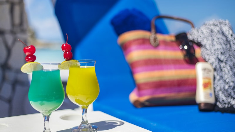 Pinapple Beach Club holiday drinks