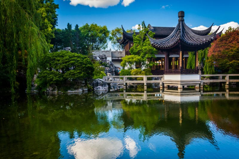 Lan Su Chinese Gardens in Portland, Oregon