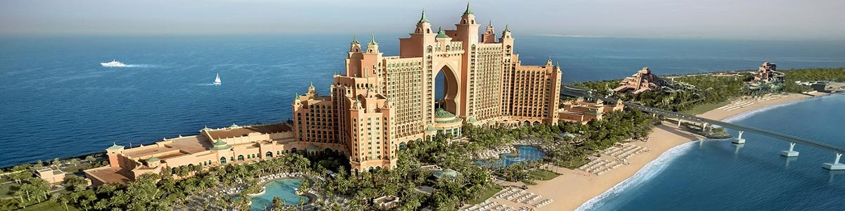 Aerial View of Atlantis The Palm Dubai