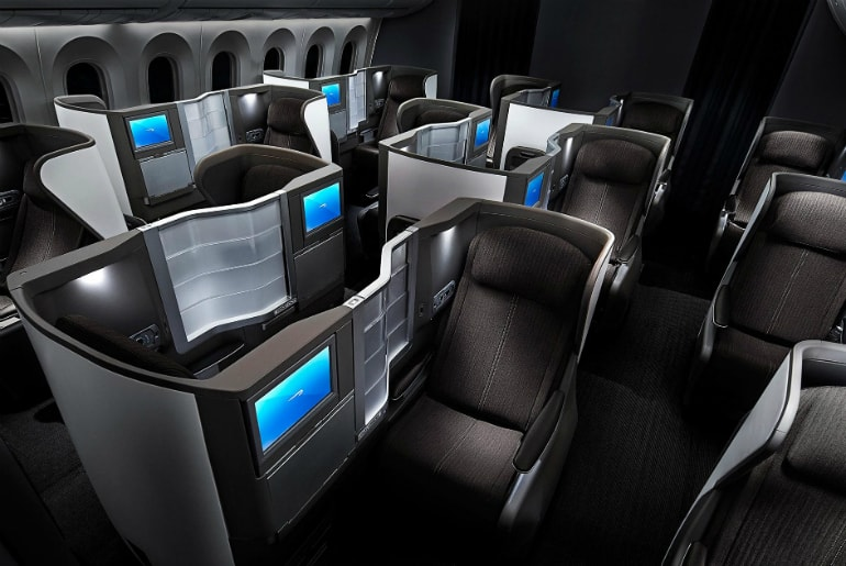 BA Club World Boeing 787 Dreamliner