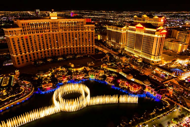 Bellagio Fountain in Las Vegas, Nevada