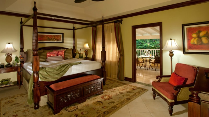 Butler Suite Bedroom - Luxury Holiday at Sandals Royal Caribbean | Just Fly Business