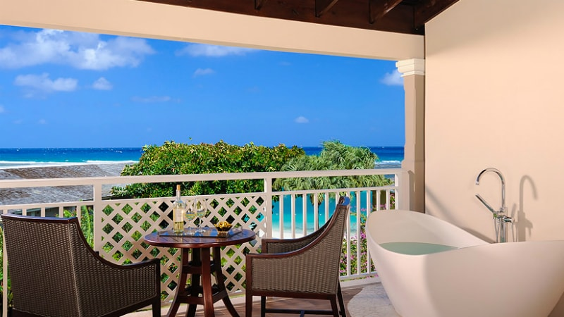 Honeymoon Grand Luxury Butler Suite with Balcony Tranquility Soaking at Sandals Royal Caribbean