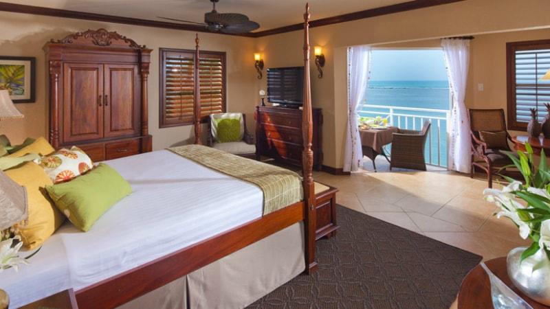 Kensington Cove Honeymoon Beachfront Club Level Room at Sandals Royal Caribbean