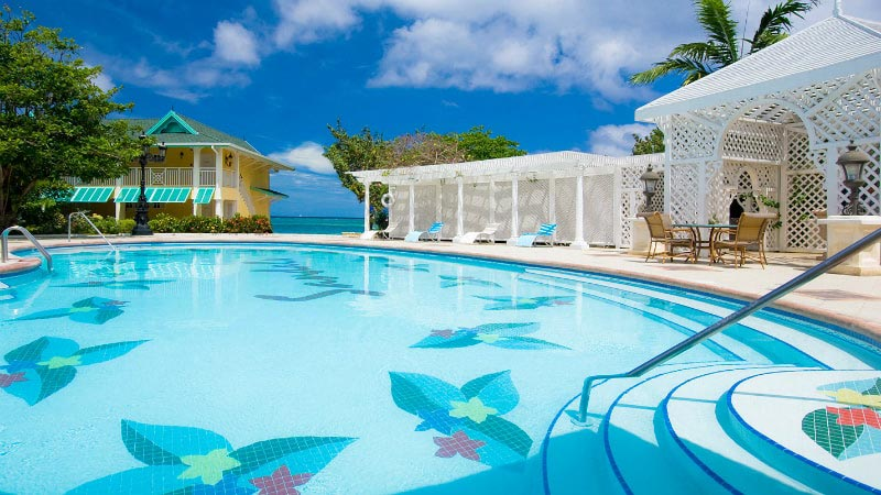 Main Pool Trellis - Luxury Holiday at Sandals Royal Caribbean | Just Fly Business
